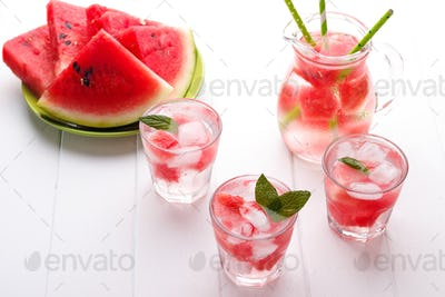 Cold watermelon drink