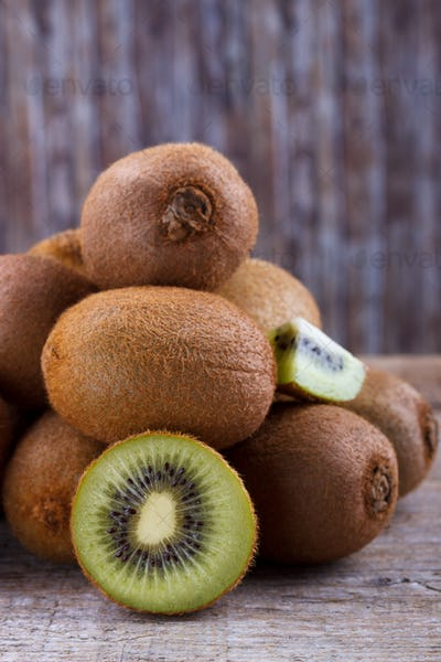 Closeup of ripe kiwi