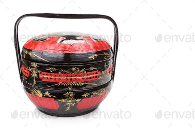 Traditional tiered Bakul Siah Wedding Basket used by Peranakan C