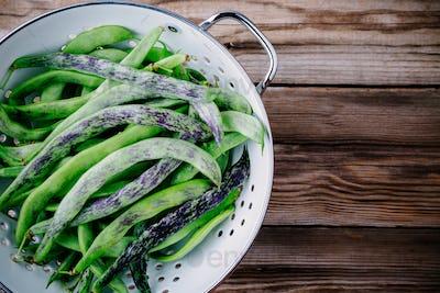 fresh raw french green beans