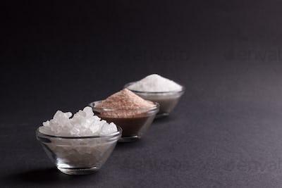white and pink salt