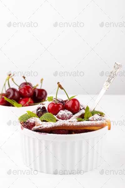 French clafoutis with cherry