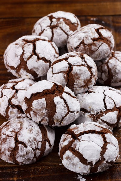 Traditional chocolate crinkles