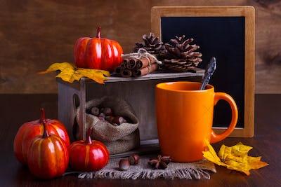 Autumn still life arrangement