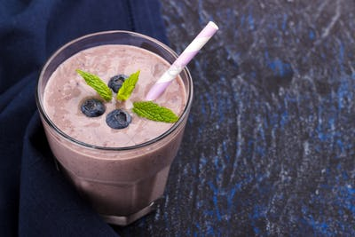 Healthy blueberry smoothie