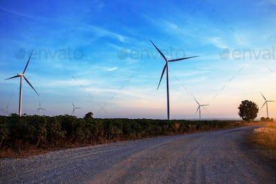 Rural road at the sky