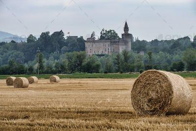 Rivalta Trebbia (Piacenza), landscape with the castle