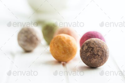 Sweet truffle balls.