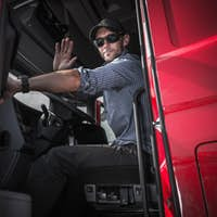 Truck Driver Leaving Warehouse