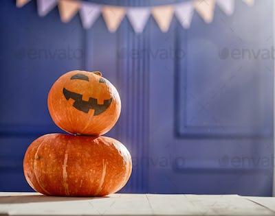 Pumpkin on the desk