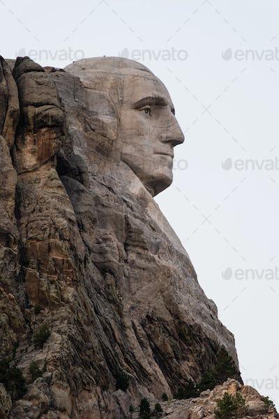 George Washington Profile Granite Rock Mount Rushmore South Dakota