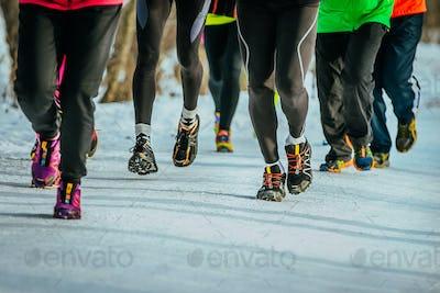 Feet running athletes