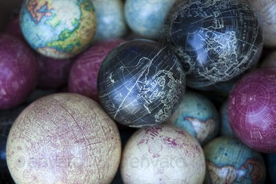 Background of globes