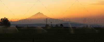 Dramatic Sky Clouds Evening Sunset Mount Jefferson Central Orego