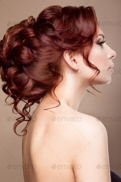 Beautiful bride with fashion hairstyle