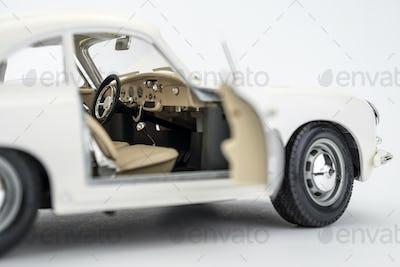 Car vintage isolated on white background