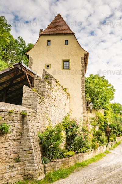 Medieval defense tower in Sulfeld am Main