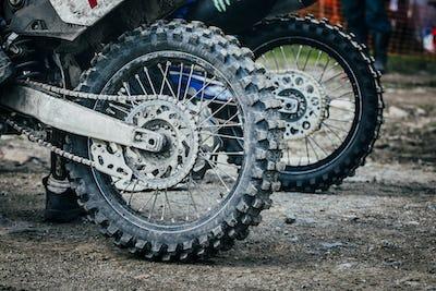 Wheel of enduro bike