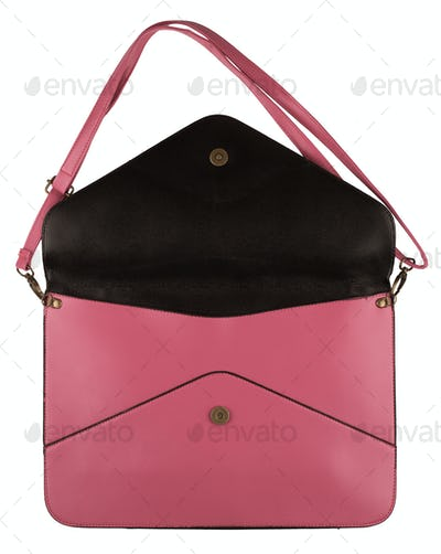 pink female purse with envelope shape