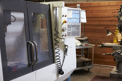 CNC Machine In Engineering Factory