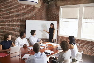 Young Businesswoman Addressing Boardroom Meeting