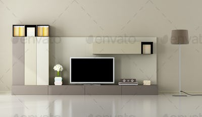 Modern living room with tv unit