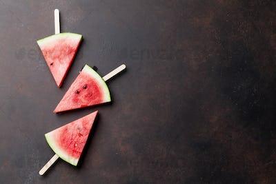 Fresh watermelon slices