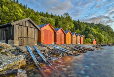 Colorful Boathouse in Norway