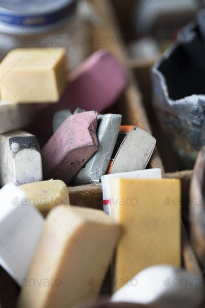 Old Collection of Erasers