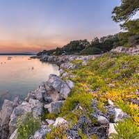 Croatian rocky touristic coast
