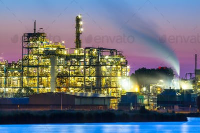Colorful Industrial Chemical area detail