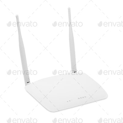 Wi-Fi router isolated on white background including clipping path