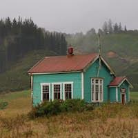 Old wooden school building