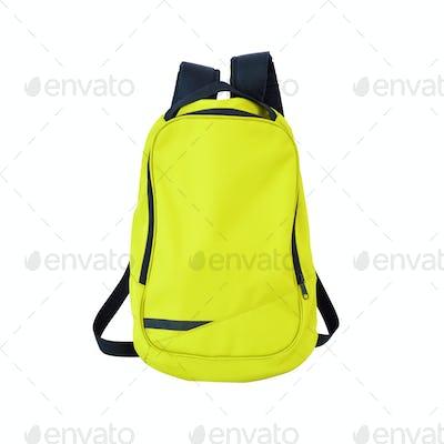 School bag yellow green
