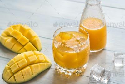 Glass of mango juice