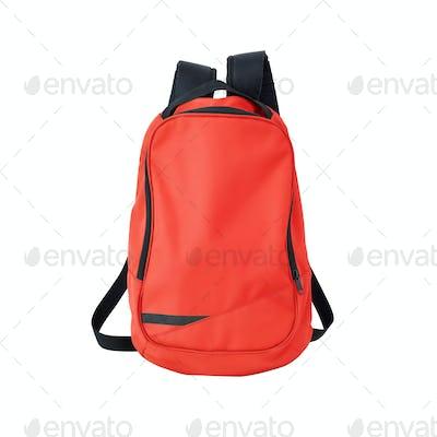 School bag red