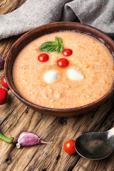 Gazpacho rustic soup