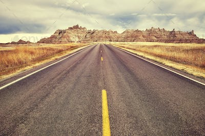Picturesque road, travel concept background.