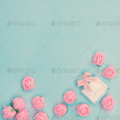 Floral fragrance with free space for text