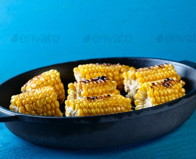 Baked on a frying pan corn