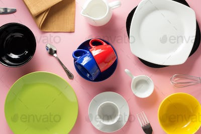 kitchenware at abstract background