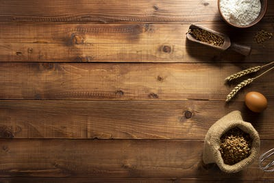 bakery products on wood