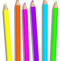 Crayons Fluorescent Highlighter Pencils