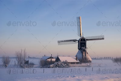 Wingerdse mill in wintermood