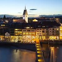Friedrichshafen, Germany At Night