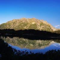 Panorama of Popradske pleso lake valley in Tatra Mountains, Slovakia, Europe