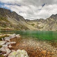 Photo of Velke Hincovo Pleso lake valley in Tatra Mountains, Slovakia, Europe