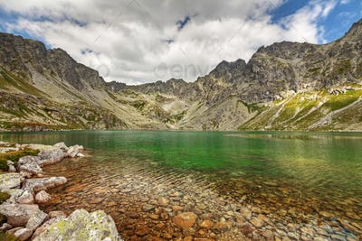 Photo of Velke Hincovo Pleso lake valley in Tatra Mountains, Slovakia, Europe