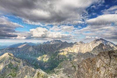 View on high Tatra Mountains, Slovakia, Europe