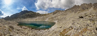 Photo of Velke Zabie pleso lake in High Tatra Mountains, Slovakia, Europe